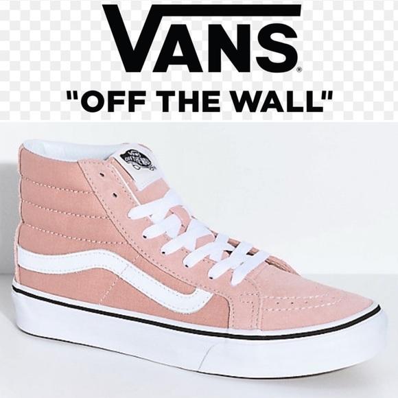 cb4e569fbfd Vans Sk8 Hi Mahogany Rose Sneakers Sz 10